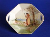 Rare Royal Doulton 'Cotswold Shepherd' Series Octagon Sweet Dish D5561 c1935